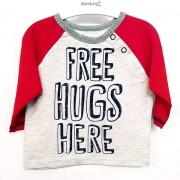 Bluza bebe mesaj Free Hugs