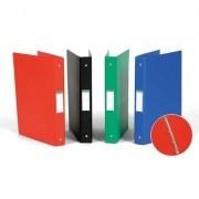 Caiet mecanic 4 inele - D25mm, coperti carton plastifiat PVC, A4, AURORA - verde