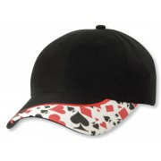 Legend Gambler Cap Black/White/Red 4310