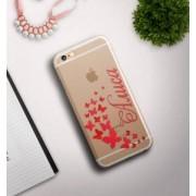 """Именной чехол для iPhone """"Бабочки"""" прозрачный"""