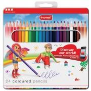 Kleurpotlood Basic Colour doos 24 stuks