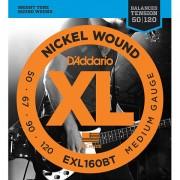 D'Addario EXL160BT Nickel Wound .050-120 Cuerdas bajo eléctrico