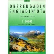 Wandelkaart - Topografische kaart 5013 Oberengadin - Engadin'Ota   Swisstopo