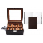 Set Cutie 6 ceasuri Brown Topas by Friedrich si Note Pad Burgundy Hugo Boss personalizabil