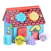 Mr Men Little Miss, Wooden Shape Sorter House, With, Miss Character Shapes