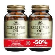 Solgar Cod Liver Oil 100cps moi PACHET 1+1-50%