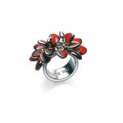 Anillo De Mujer Acero Swatch Bijoux Love Explosion Red Heart JRR016