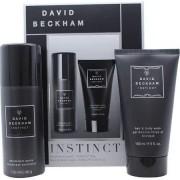 David beckham instinct gift set 50 ml aftershave + 150 ml shower gel + 150 ml deodorant spray + wash bag