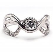 Anillo De Compromiso Solitario Diamond Desing Diamante Natural 35 Puntos Con Montadura De Oro Blanco De 14 Kilates