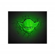 Lampara 3D Star Wars Yoda Jedi The Force Awakenes Maestro-Verde