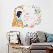 Wqixu Calcomanías Para La Pared Chica De La Sala De Estar Del Dormitorio De La Sala De Estar De La Jirafa Removible Autoadhesivo Gabinete Pegatinas De Pared Calcomanía Cartel Decorativo Mural