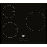 Plita incorporabila Beko HII63400AT, Inductie, 3 Zone, 60 cm, Sticla neagra