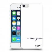 Műanyag átlátszó tok az alábbi mobiltelefonokra Apple iPhone 5/5S/SE - I love you