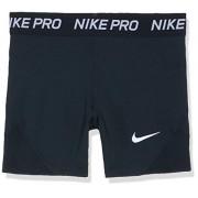 Nike Pro Boy Pantalones cortos para niña (talla L), color negro y blanco