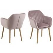 D2 Krzesło Emilia Velvet pudrowy roż