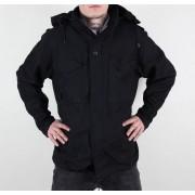 veste pour hommes printemps-automne M65 Fieldjacket NYCO lavé - NOIRE - 100304