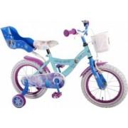 Bicicleta copii Volare Frozen cu roti ajutatoare 14 INCH