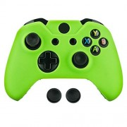 Surge Xbox One & One S Controller Skin & Thumb Stick Grips, Green Xbox One