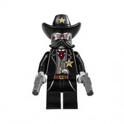 usongs LEGO The LEGO Movie 70800 SHERIFF NOT-A-ROBOT Minifigure with GUNS NEW