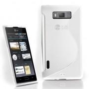 LG P700 Optimus L7 Силиконов Калъф Бял + Протектор