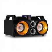 MDJ110 Media Player USB SD BT AUX 100W Amplificador 2x4 Coluna LED RGB