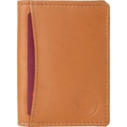 New Tareen Men Casual Tan Genuine Leather Wallet(4 Card Slots)