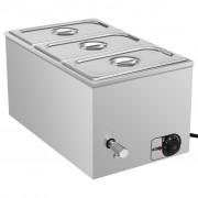 vidaXL rozsdamentes acél ételmelegítő 1500 W GN 1/3