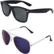 Zyaden Combo of Wayfarer Sunglasses & Aviator Sunglasses (Combo-37)