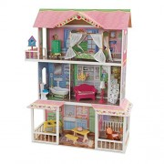 KidKraft Sweet Savannah 3 Level Wooden Dollhouse with Furniture | 65851