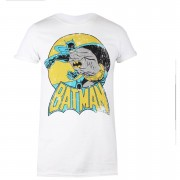 Geek Clothing Camiseta DC Comics Batman Retro - Mujer - Blanco - M - Blanco