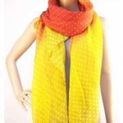 RAYFLECTOR Červeno žlutý šátek s tečkama