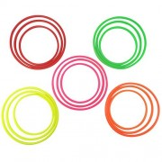 SPORT BEATS 15 Pcs Plastic Toss Rings Colorful for Speed and Agility Practice Games Small Medium Large Size Assorted