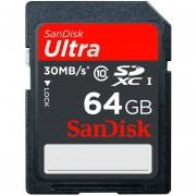 Memoria Flash SanDisk Ultra SDSDU-064G-U46, 64GB SDXC UHS-1 Clase 10 (la Etiqueta Puede Cambiar)