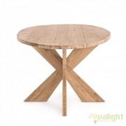 Masa design natural din lemn de tec BUDDY 220X100cm 0748068 BZ