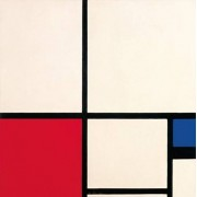 IXXI muurdecoratie Mondriaan Composition in Colours-large ( 140 x 140 cm)