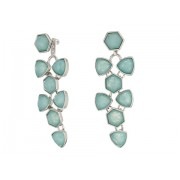 Marc Jacobs Geo Facets Convertible Earrings Silver ToneMint