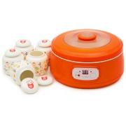 Aparat de preparat iaurt Oursson FE1502D/OR, 20 W, 1 L, 5 recipiente, Timer, Orange