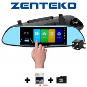 Camera Auto Oglindă Offroad Zenteko Full HD Touch ecran 7 inch SM700 + IN-CAR Triple, bonus nou