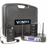 Vonyx 179.220 Wm512h Vhf Microfono Inalambrico