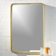 "24.5""""x36"""" croft brass wall mirror by CB2"