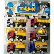 Sshakuntlay Kids Construction Vehicles, Truck Toys Collection Model for Kids (Set of 6 Trucks)
