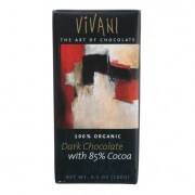Vivani Organic Chocolate Bar - Dark Chocolate - 85 Percent Cocoa - 3.5 oz Bars - Case of 10