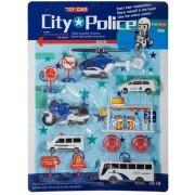 Jysk Partivarer Set med 12 bilar, inkl. polis och helikopter