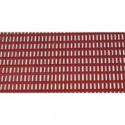 EHA Bodenmatte - mit Rechteck-Hohlprofilen - Breite 600 mm, rot, Preis pro lfd. m