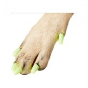 Purrdy Paws Soft Dog Nail Caps, 40 count, Medium, Ultra Glow in the Dark