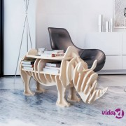 vidaXL Drveni stol/organizer u obliku nosoroga