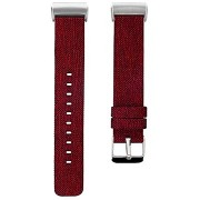 Eternico Fitbit Charge 3 / 4 Canvas, piros (Large)