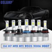 Oslamp S2 H1 H3 H4 H7 H11 H13 9004 9005 9006 9007 9012 COB Chip LED Headlight Bulb Hi-lo Beam Single Beam 8000lm 12V 6500k