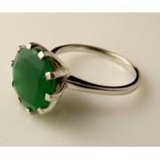 Inel argint onix verde -VR014712 (MASURI IN STOC ⤵: 52 mm circumferinta sau 16,6 mm diametru interior, Categorie: inele)