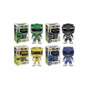 Funko Pop Set 4 Power Rangers Blue Green Black Yellow Ranger